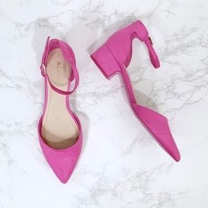 Aldo Pink Low Block Heel